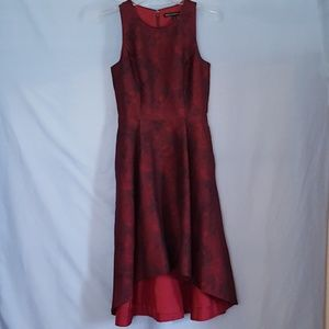 Beautiful WHBM Red & Black Dress SZ 0
